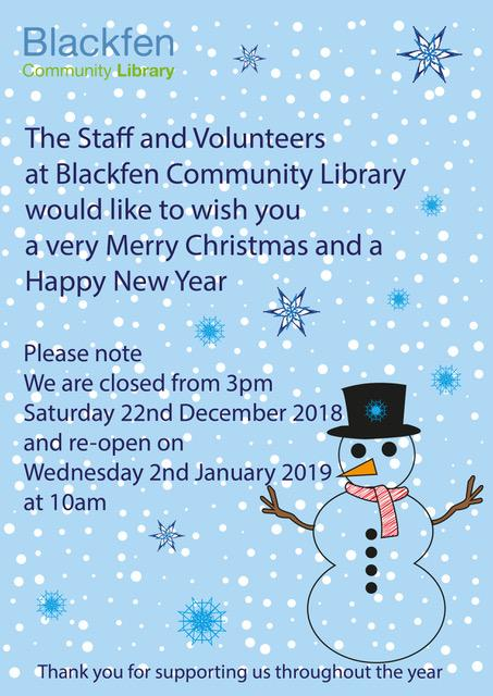 Library Christmas Opening Hours
