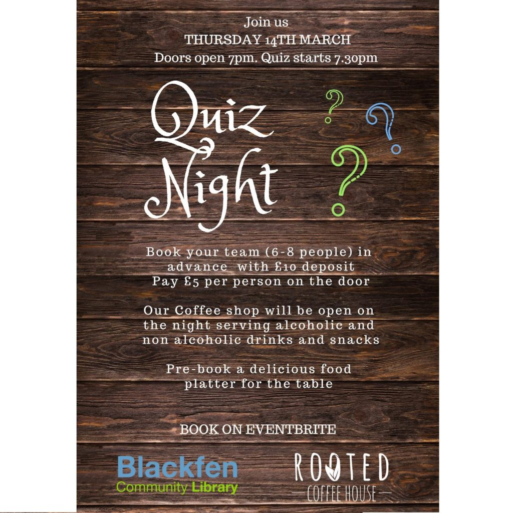 Charity Quiz Night – Thu 14th March