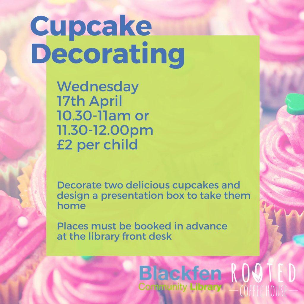 Cupcake Decorating Wed 17th April
