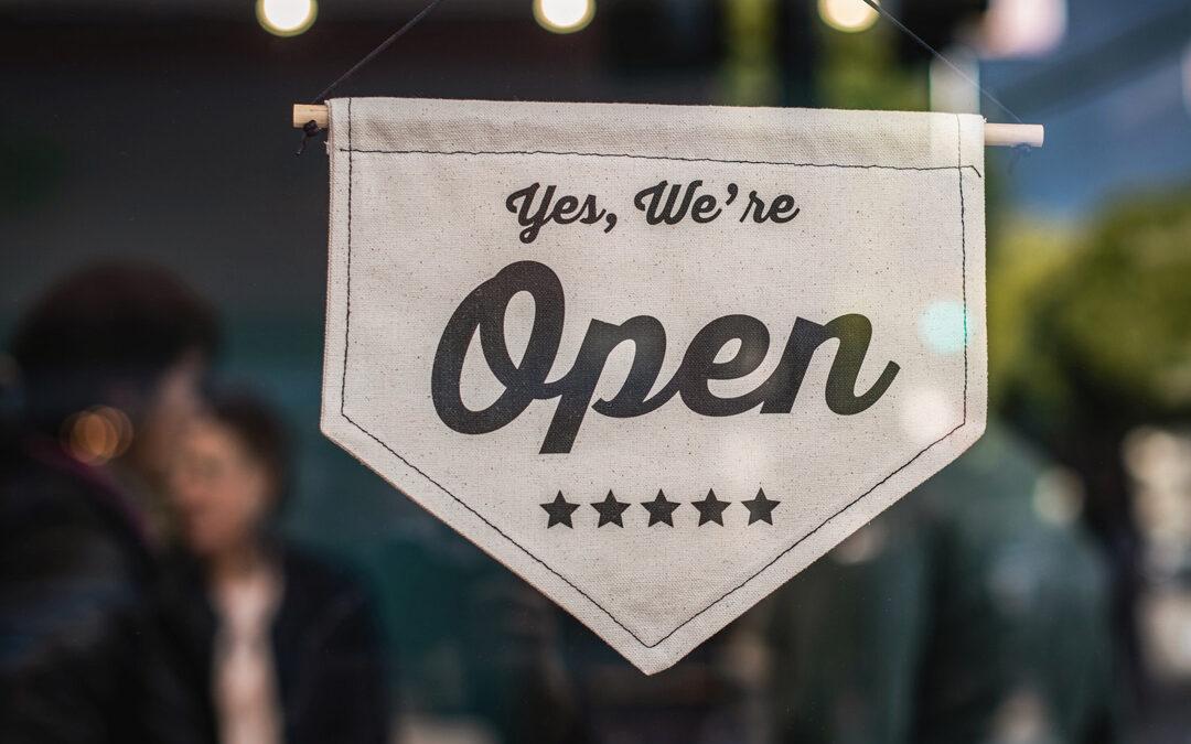 Pic of shop open door sign