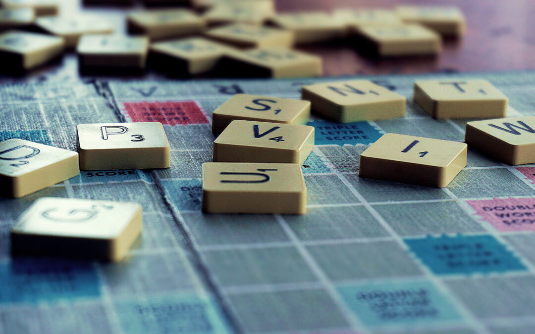 Pic of Scrabble board and pieces