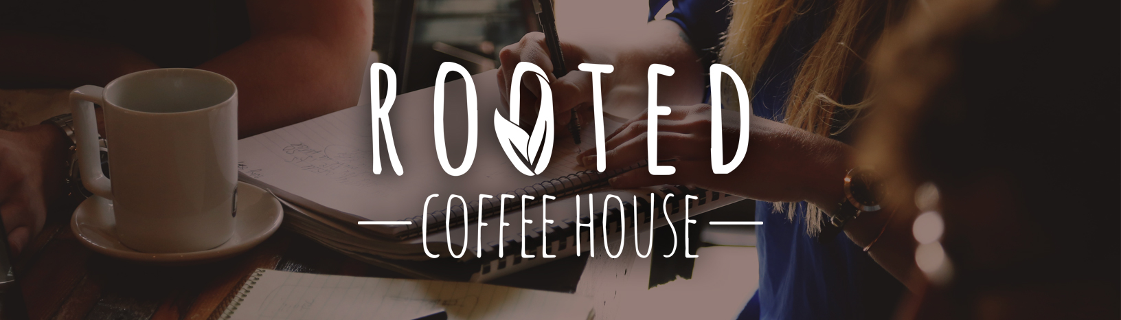 Rooted Coffee House banner ad