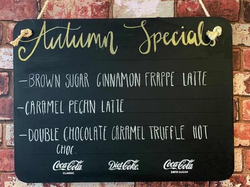 Rooted Coffee House Autumn Drinks